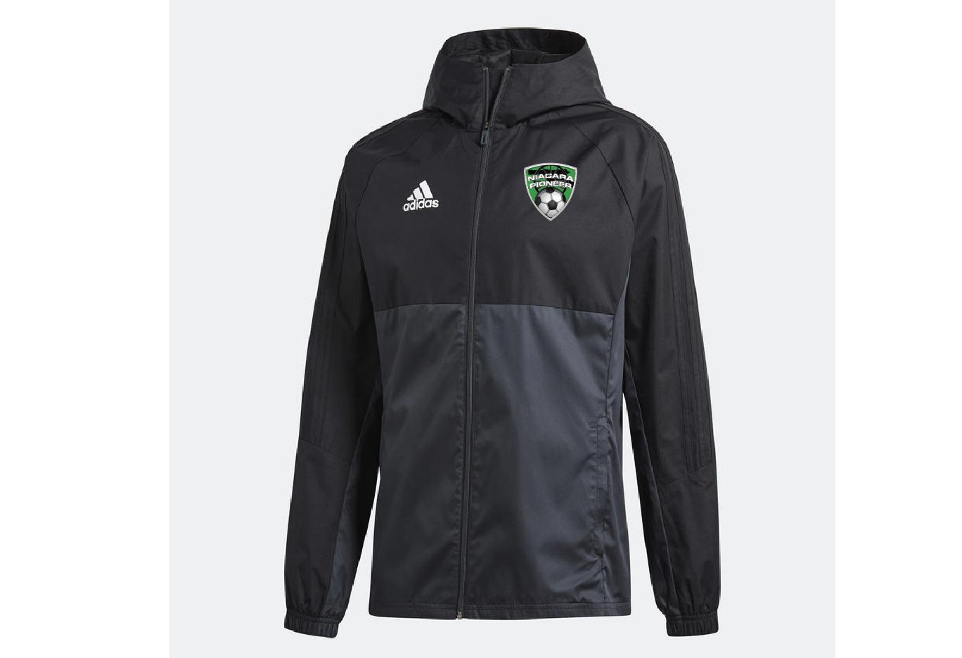 88217c4a484c 73) Adidas Tiro Rain Jacket