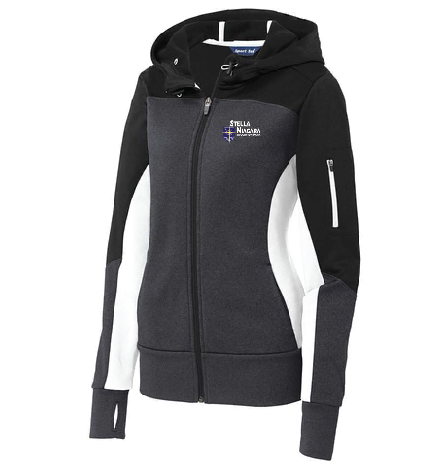 e522ff9c3ad90 (78) Ladies Tech Fleece Colorblock Full-Zip Hooded Jacket w/ Classic Stella  Logo